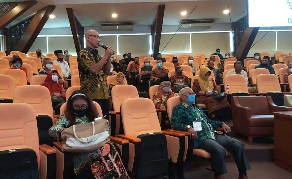 Para koordinator wilayah (korwil) warga pemilik surat ijo di Surabaya saat bersilaturahmi bersama Calon Wali Kota Machfud Arifin