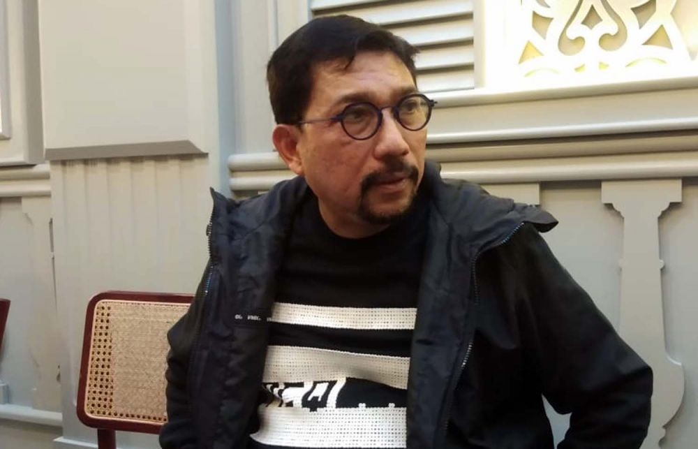 Irjen Pol (Purn) Machfud Arifin saat bertemu sejumlah wartawan di Surabaya