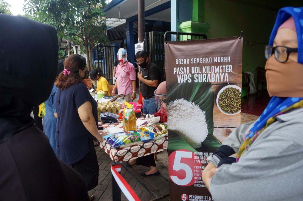 Pasar Nol Kilometer (PNK) di Wisma Penjaringan Sari, Surabaya