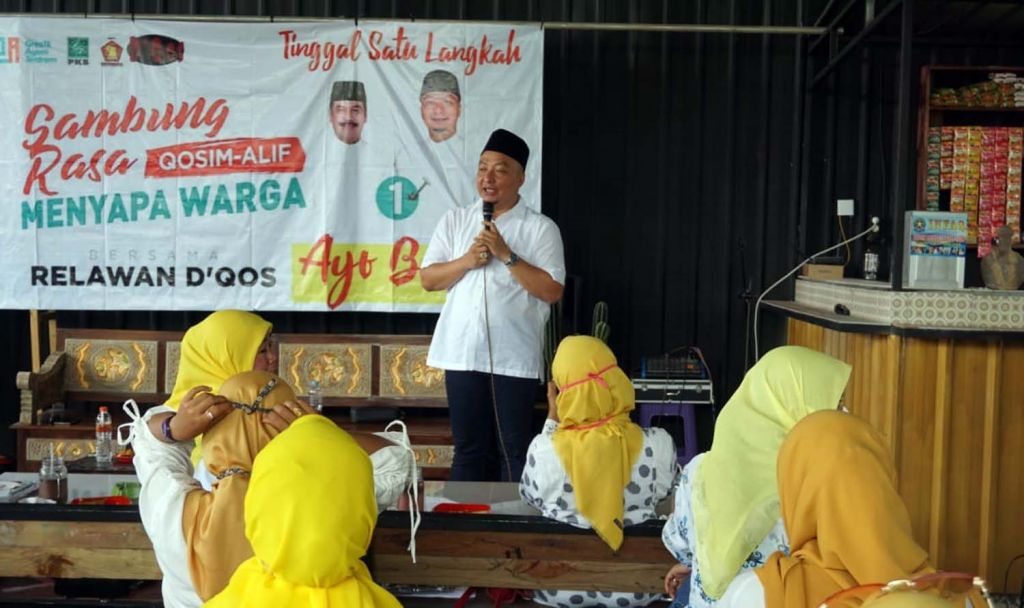 Calon Wakil Bupati Gresik, Alif dalam kegiatan di Kafe Majapahit, Bungah