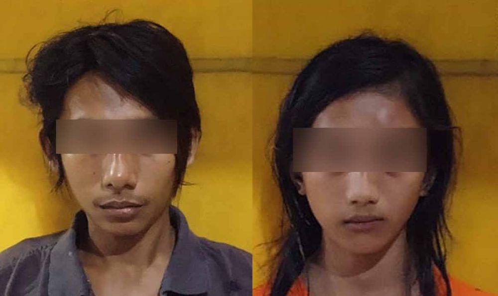 Pasangan suami istri yang ditangkap setelah menjambret