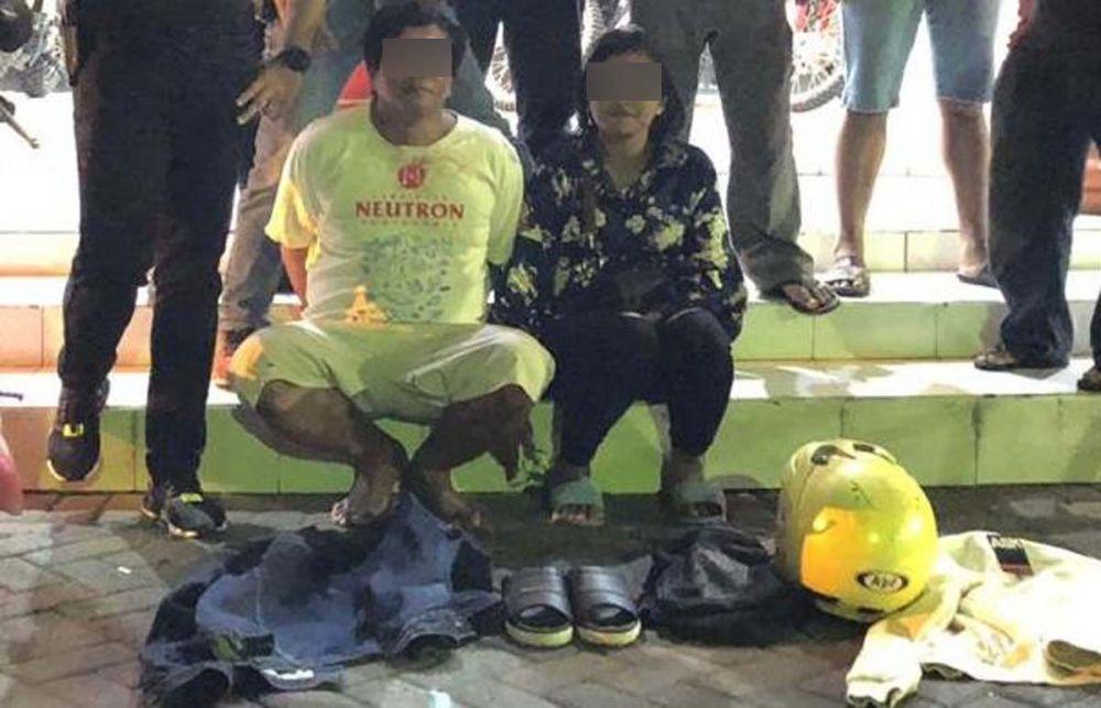Pasangan suami istri pencuri HP lima kali yang mengajak anaknya setiap beraksi ditangkap Unit Jatanras Satreskrim Polrestabes Surabaya
