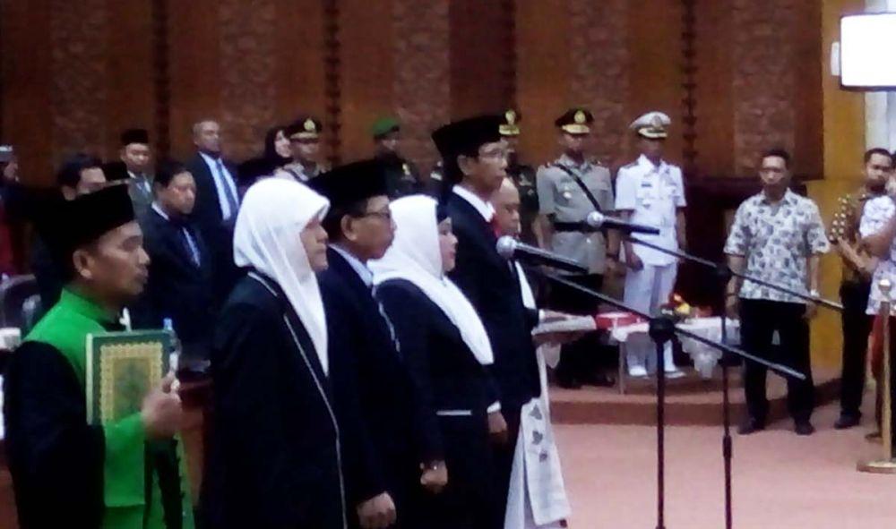 Pengambilan sumpah pimpinan DPRD Surabaya periode 2019-2024
