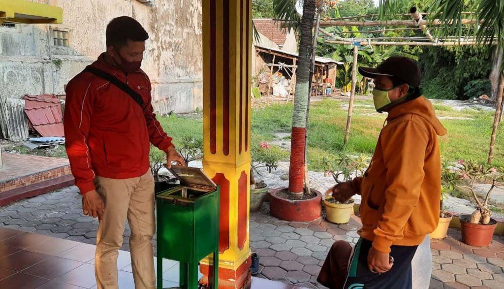 Kotak amal musala di Mojokerto yang dibobol pencuri