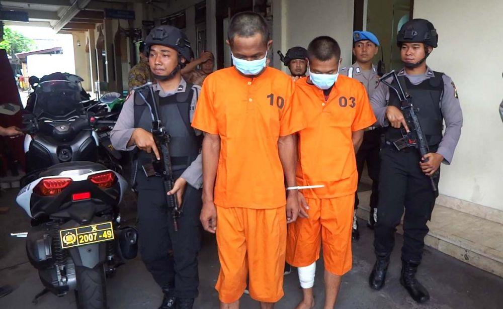 Dua pembunuh pasutri digelandang di Mapolres Tulungagung