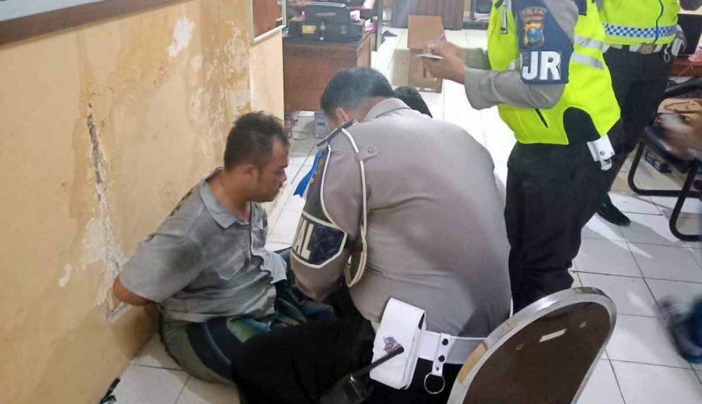 Pelaku diamankan setelah sempat kabur saat ditangkap