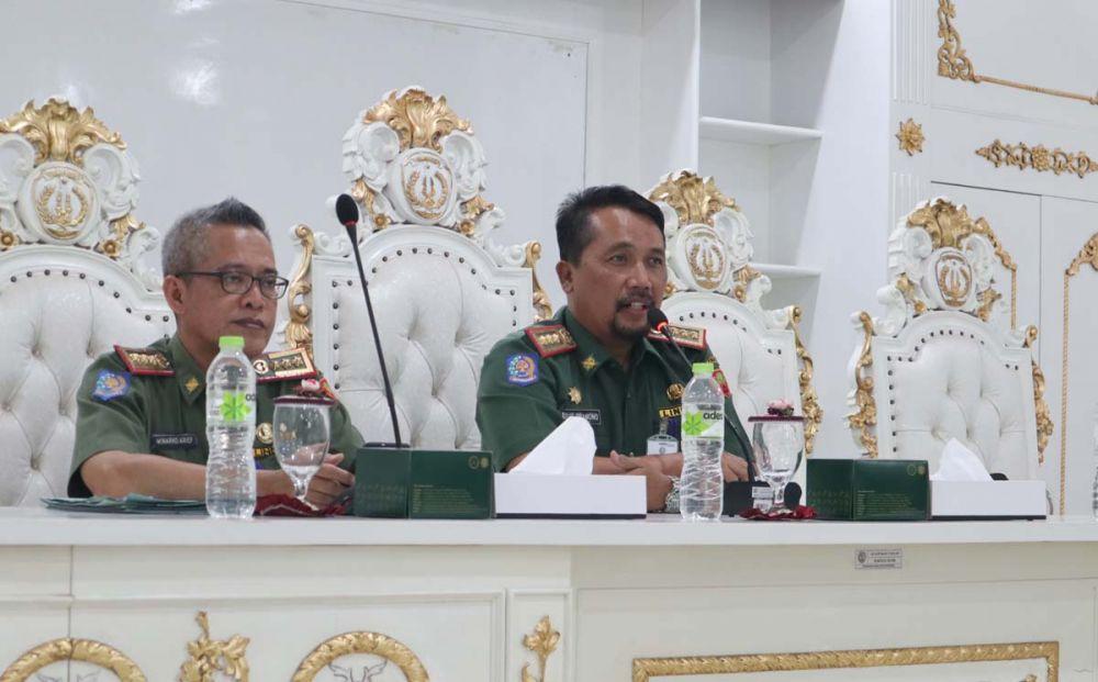 Sekretaris Daerah Pemkab Ponorogo Agus Pramono dalam pers rilis pendaftaran CPNS tahun 2019