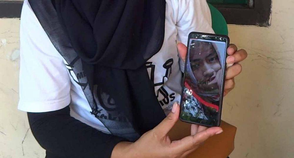 Foto semasa hidup Mahardika Agustina, petugas KPPS di Tulungagung yang meninggal dunia