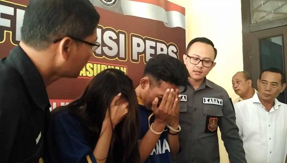 Polisi gadungan dan istrinya yang dijadikan umpan diamankan di Mapolres Pasuruan
