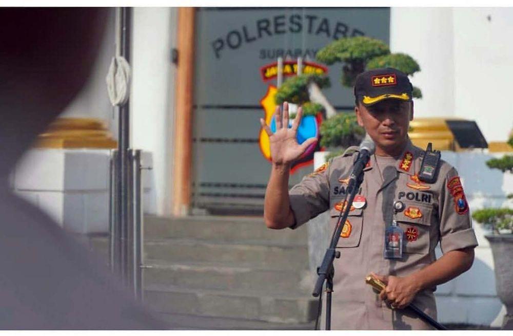 Kapolrestabes Surabaya Kombes Pol Sandi Nugroho akan menempati jabatan barunya di Bareskrim Polri