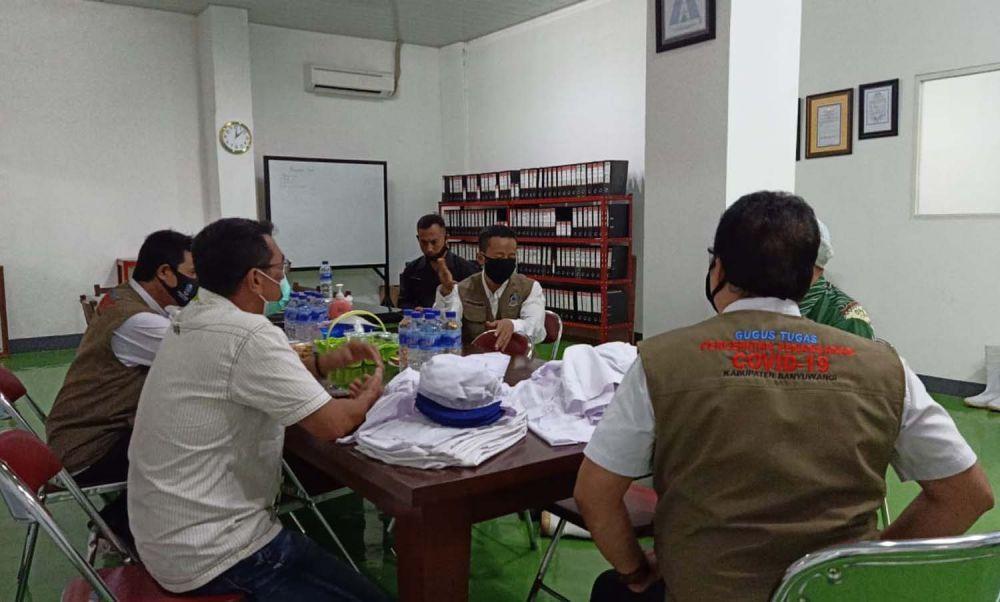 Tim Gugus Tugas Penanganan Covid-19 Banyuwangi melakukan monitoring protokol kesehatan di sektor industri