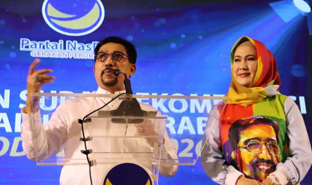 Machfud Arifin bersama istrinya Lita Machfud Arifin