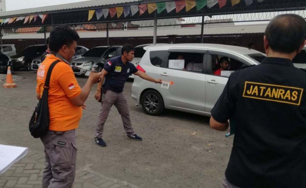 Proses rekontruksi penculikan dan pembunuhan di Surabaya