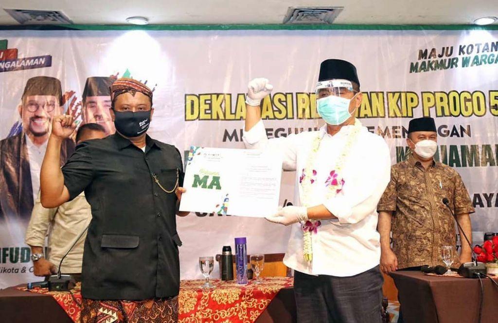 Relawan KIP Progo 5 deklarasi dukung Machfud Arifin-Mujiaman