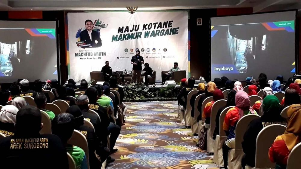 Para pendukung Machfud Arifin yang tergabung dalam Remaas siap menangkan Machfud Arifin jadi wali kota di Pilwali Surabaya 2020