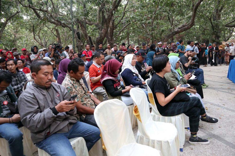 Para calon penonton Reyog Jazz Ponorogo memadati sesi jumpa pers