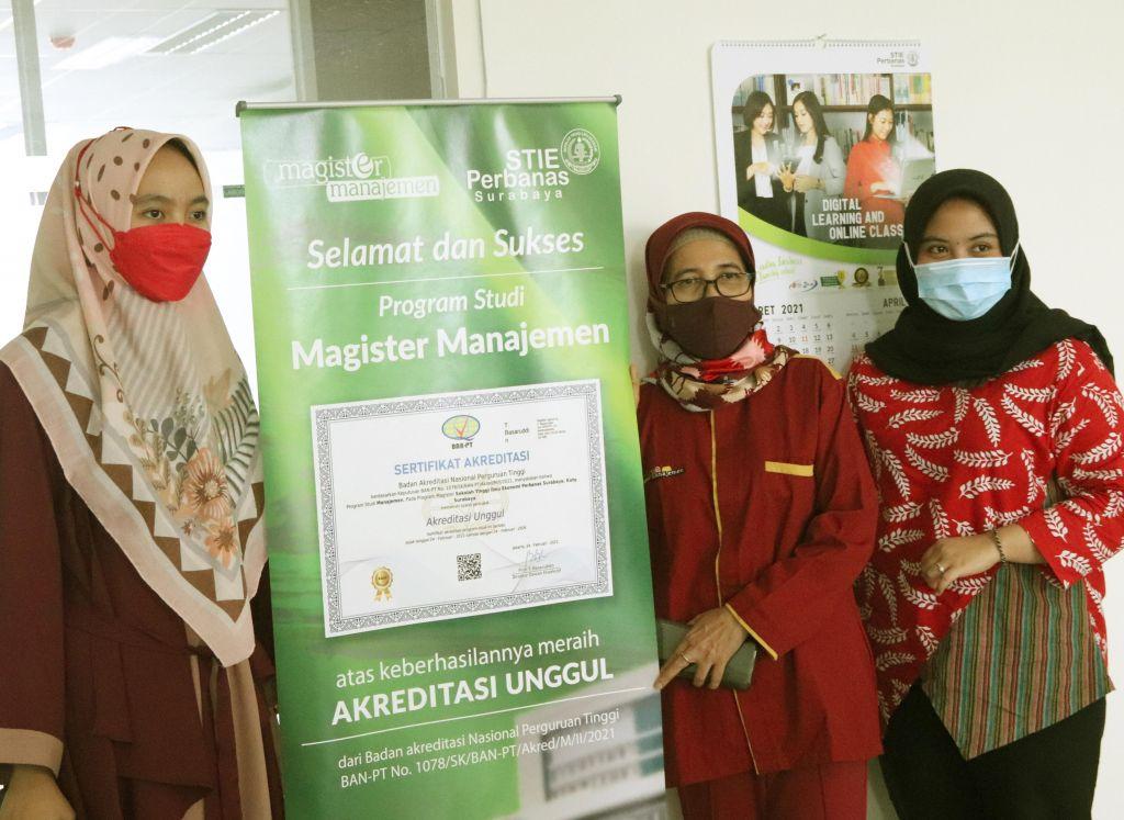 Magister Manejemen STIE Perbanas Surabaya meraih akreditasi unggul pertama di Jatim