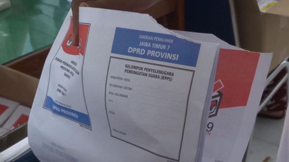 Pemilu 2019 Kpu Tulungagung Temukan 348 Surat Suara Rusak