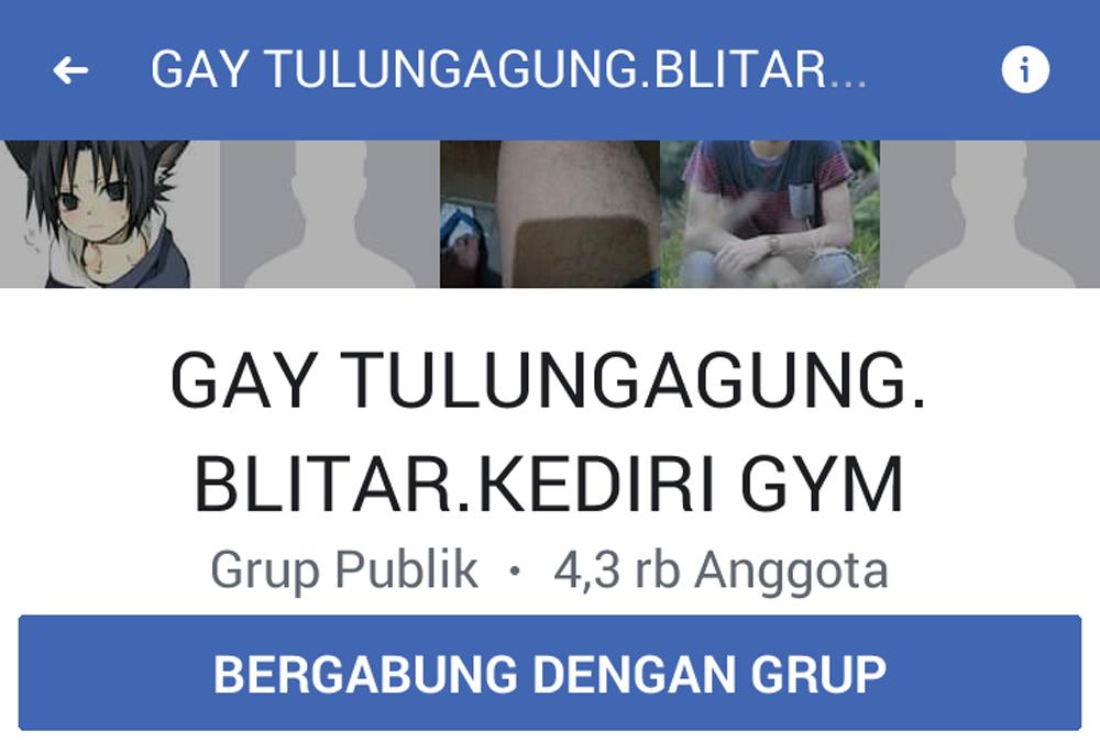 Capture foto profil grup gay di FB