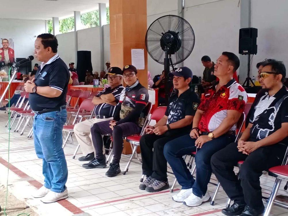 Kepala Dinas Kepemudaan dan Olahraga Kota Surabaya M. Afghani Wardhana saat membuka Surabaya Airsoft Tournament 2019