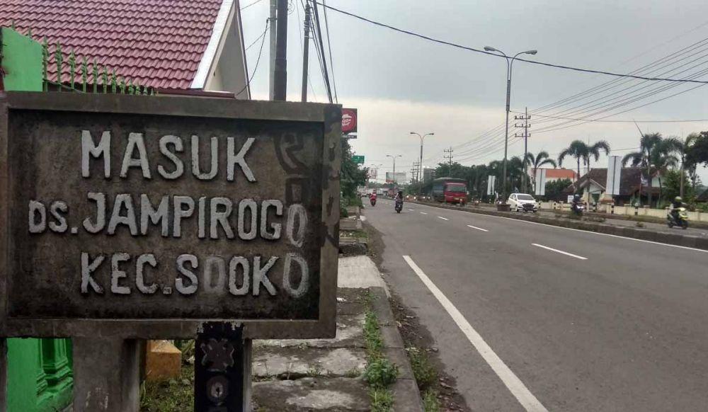 Lokasi pelaku begal payudara beraksi di Mojokerto