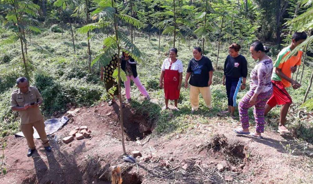 Gundukan tempat batu bata kuno ditemukan