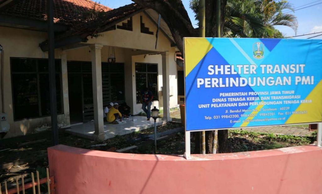 Shelter transit milik UPT BP2MI Surabaya untuk menampung para PMI asal Jatim yang dipulangkan dari Malaysia