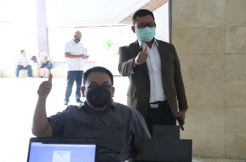 Vaksinasi yang digelar Untag Surabaya jelang perkuliahan tatap muka