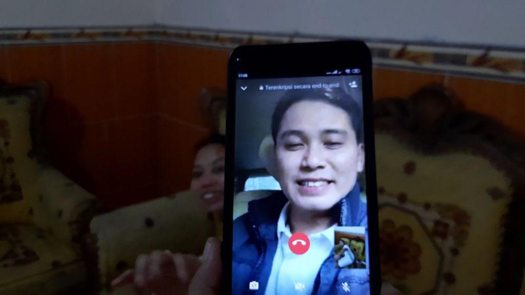 Wabup Mojokerto Muhammad Al Barra saat video call Khalimatus Sadiyah