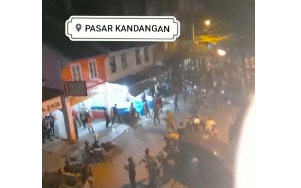 Video kericuhan dengan tag Pasar Kandangan juga dipastikan hoaks