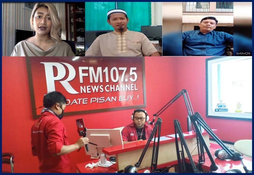 Talkshow interaktif  bertema 'Mencegah Radikalisme Berkembang di Tengah Wabah Pandemi Covid-19' di Stasiun Radio Pikiran Rakyat (PRFM) 107,5 FM Bandung