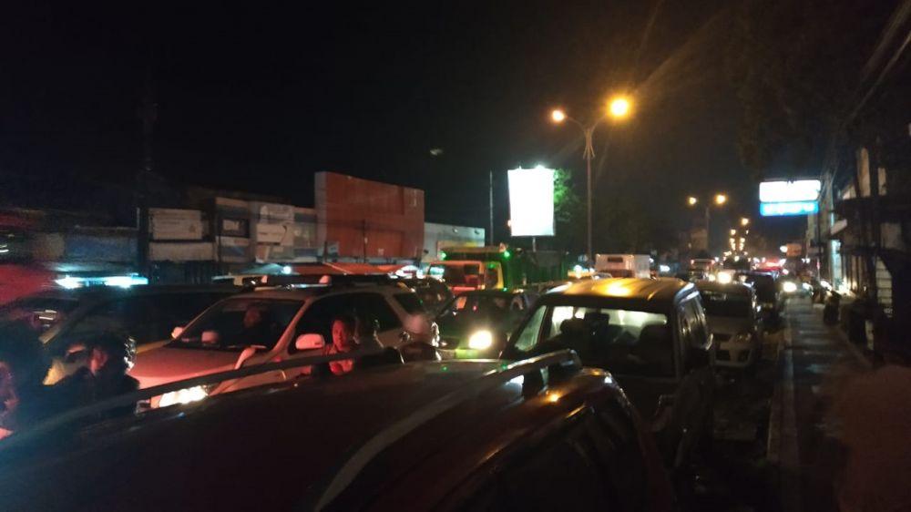 Kemacetan di Jalan Malang arah Surabaya