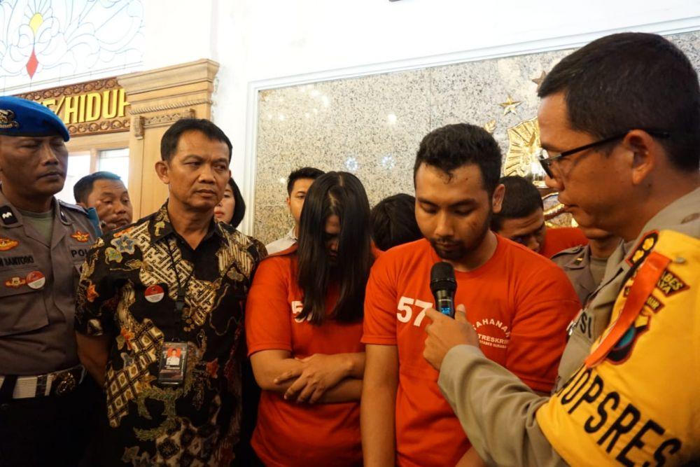 Bambang dan Rulin, suami istri yang terlibat dalam penculikan dan pembunuhan di Surabaya