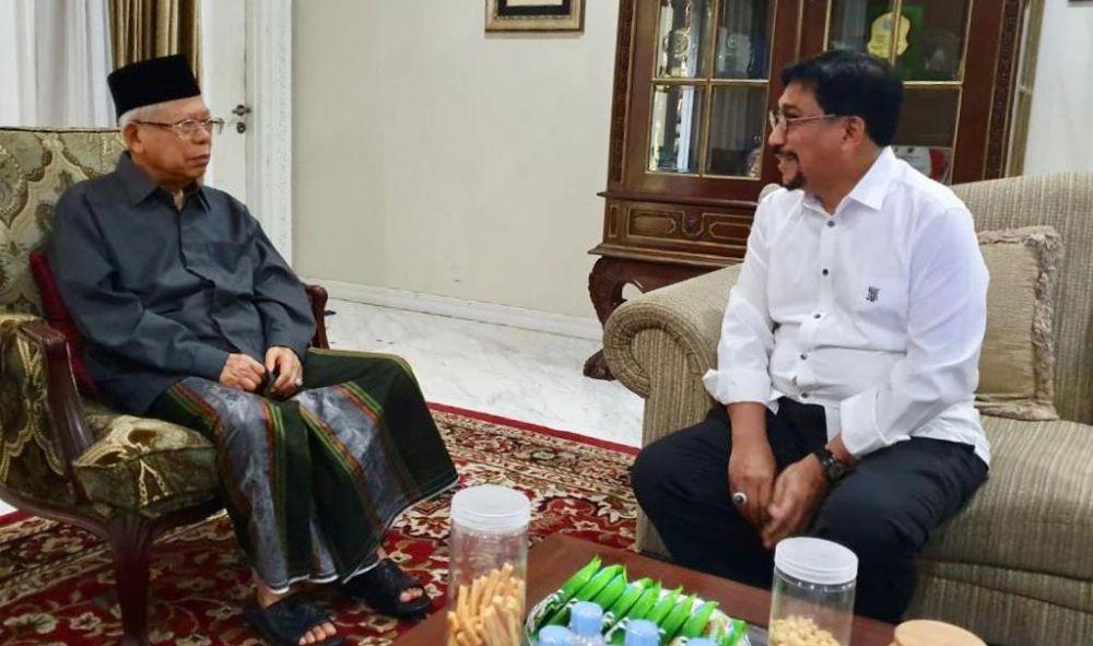 Irjen Pol (Purn) Machfud Arifin bersama KH Ma'ruf Amin