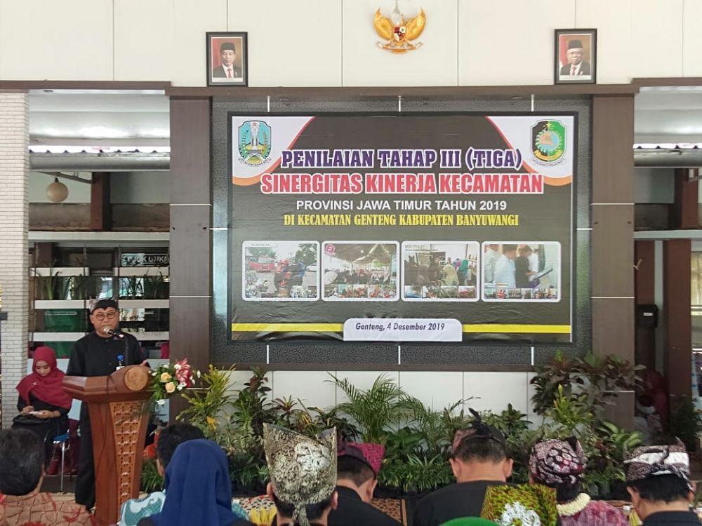 Tim Juri Lomba Sinergitas Kinerja Kecamatan Provinsi Jawa Timur Tahun 2019 tiba di Banyuwangi