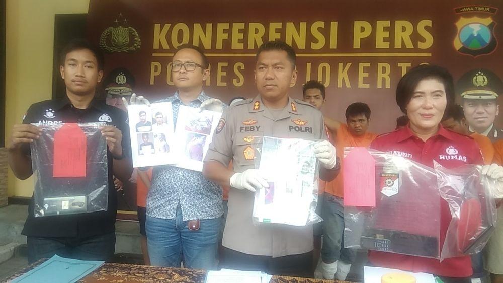 Sindikat pencuri motor dan penadah asal Surabaya digulung Tim Unit Resmob Satreskrim Polres Mojokerto