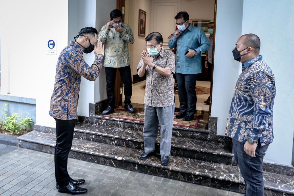 AHY bersilaturahmi ke kediaman Jusuf Kalla