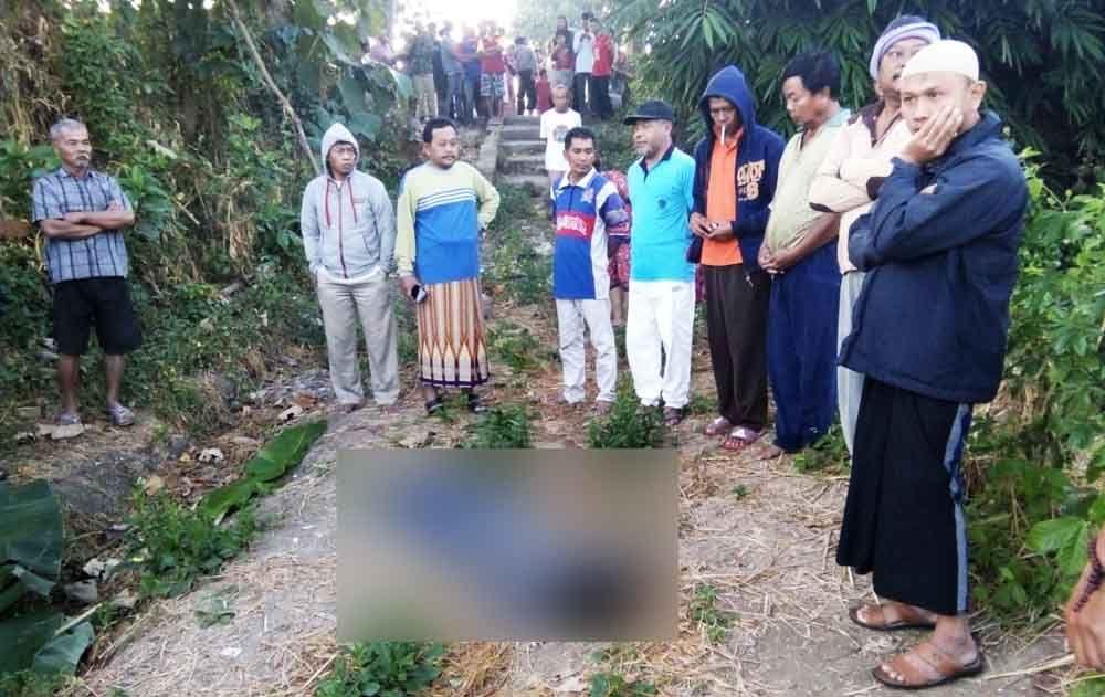 Jenazah korban saat ditemukan warga