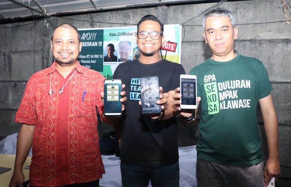 Hasil e-Voting pada pemilihan Ketua RT di Surabaya