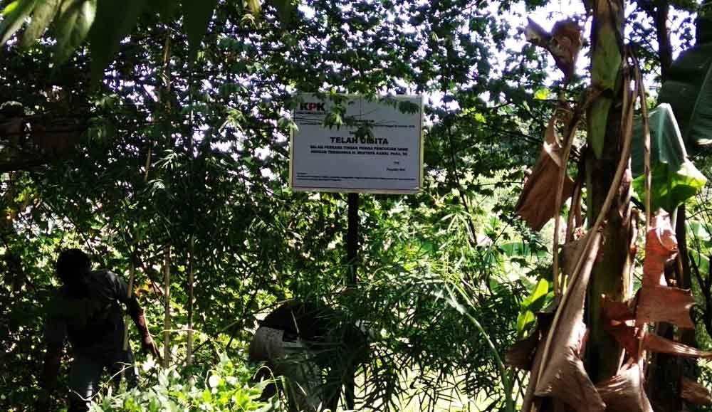 Salah satu aset tanah milik Bupati nonaktif Mojokerto yang disita