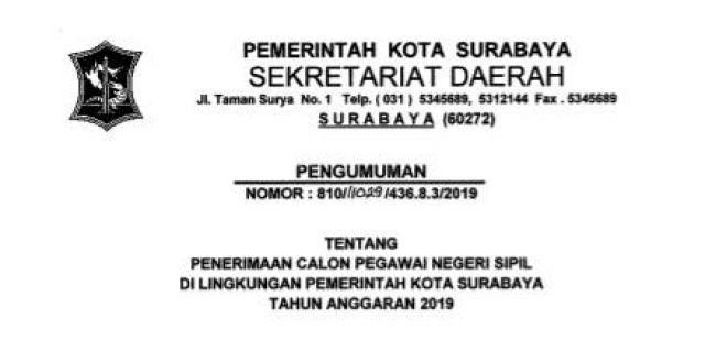 Pemkot Buka Pendaftaran Cpns Surabaya Ini Formasi Yang Dibutuhkan