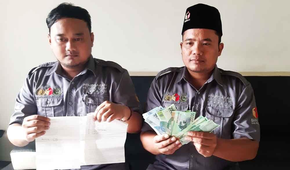 Barang bukti money politic di Ponorogo
